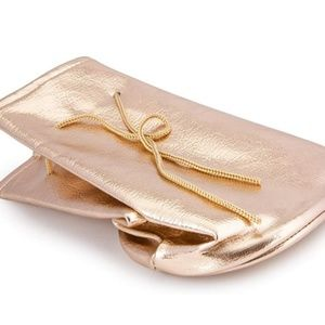 Travel Rose Gold Makeup Pouch